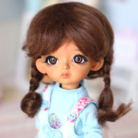 "PERRUQUE POUPÉE DOLL WIG PIROUETTE 5.6"" BJD MEADOWDOLLS TWINKLE DOLL LATI YELLOW PUKIFEE OB11 STODOLL"