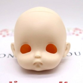 RESIN DOLL HEAD EGGY NO MAKE UP READY TO CUSTOM STODOLL SWEET BABY BJD DOLL