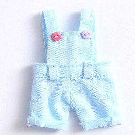 LIGHT BLUE SHORT OVERALL OUTFIT FOR OB11 STODOLL AMYDOLL LATI WHITE SP PUKIPUKI OBITSU  DOLLS