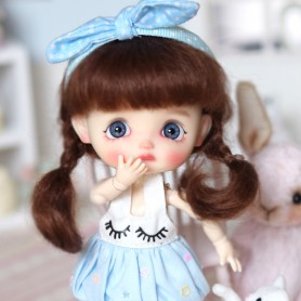 LIGHT BLUE DRESS OUTFIT FOR OB11 STODOLL AMYDOLL LATI WHITE SP PUKIPUKI OBITSU 11 CM DOLLS