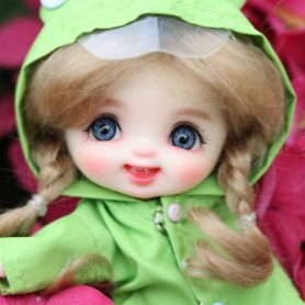 POUPÉE STODOLL DOLL BEBE LAUGH QUENOTTES ARTIST CUSTOM DOLL OB11 CORPS YMY