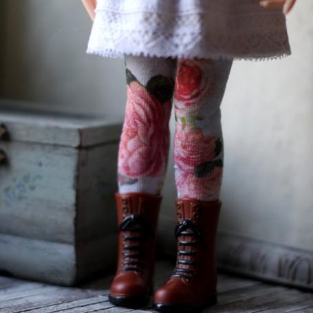 HIGH SOCKS OR STOCKINGS FLOWERS HAND MADE FOR BLYTHE DOLLS PURE NEEMO OBITSU LICCA CUSTOM BLYTHE BODIES