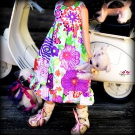 SUMMER FLOWER HAND MADE DRESS BLYTHE PURE NEEMO OBITSU LICCA CUSTOM BLYTHE BODIES