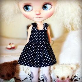 SUMMER DOTS HAND MADE DRESS BLYTHE PURE NEEMO OBITSU LICCA CUSTOM BLYTHE BODIES