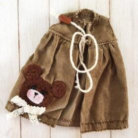 BROWN BEAR HAND MADE DRESS BLYTHE PURE NEEMO OBITSU LICCA CUSTOM BLYTHE BODIES