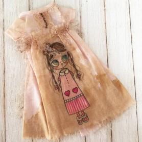 PINK GIRLY HAND MADE DRESS BLYTHE PURE NEEMO OBITSU LICCA CUSTOM BLYTHE BODIES