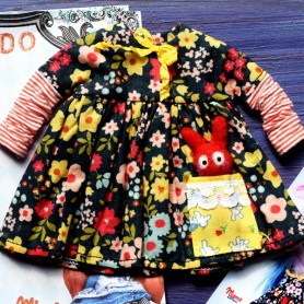 MIEMA DOLLHOUSE BUNNY & DRESS HAND MADE FOR BLYTHE DOLLS PURE NEEMO OBITSU LICCA CUSTOM BLYTHE BODIES