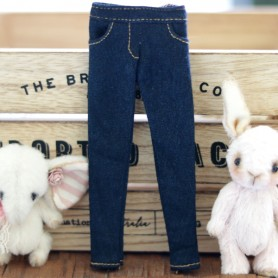 NAVY BLUE JEAN PANTS HAND MADE OUTFIT FOR BLYTHE PURE NEEMO OBITSU LICCA CUSTOM BLYTHE BODIES
