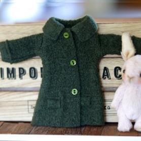 GREEN WINTER COAT HAND MADE DRESS BLYTHE PURE NEEMO OBITSU LICCA CUSTOM BLYTHE BODIES