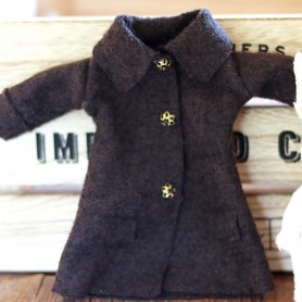 BROWN WINTER COAT HAND MADE DRESS BLYTHE PURE NEEMO OBITSU LICCA CUSTOM BLYTHE BODIES