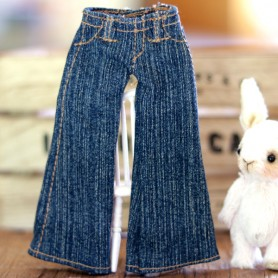 BLUE JEAN PANTS HAND MADE OUTFIT FOR BLYTHE PURE NEEMO OBITSU LICCA CUSTOM BLYTHE BODIES