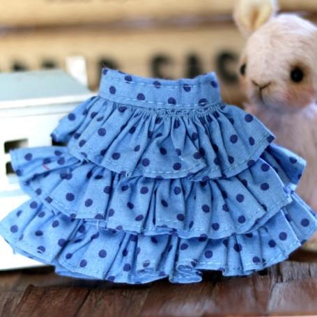 DOTS SKIRT HAND MADE DRESS BLYTHE PURE NEEMO OBITSU LICCA CUSTOM BLYTHE BODIES