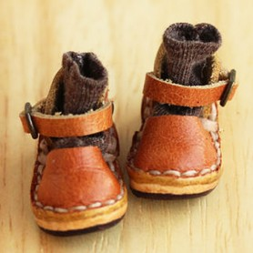 BEAUTIFUL HAND MADE LEATHER SHOES FOR BLYTHE LATI YELLOW PURE NEEMO AZONE LICCA DOLLS