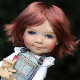 ROXIE IRISH RED DOLL WIG 8/9 BOY & GIRL POUPÉE BJD MEADOWDOLLS PULLIP KAYE WIGGS WICHTEL SD LUTS MUI CHAN MIDDIE BLYTHE