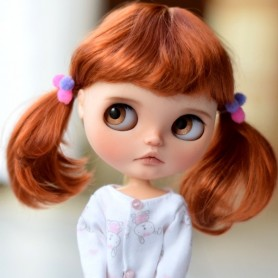 MONIQUE HANNAH CARROT DOLL WIG 9-10 FOR BJD BLYTHE MEADOWDOLLS MAE ADRYN ZWERGNASE