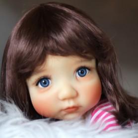 HANNAH CHESTNUT BROWN WIG BLYTHE MEADOWDOLLS MAE ADRYN PULLIP MIO DOLLS 9-10
