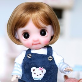 PETIT BOB DOLL WIG FOR CUSTOM BJD STODOLL OB11 LATI YELLOW PUKIFEE DOLL 5/6