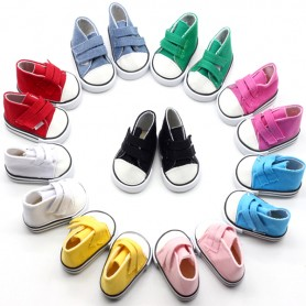 "BASKETS DOLL SHOES 7 X 3.6 CM FOR 18"" BJD DOLLS MEADOWDOLLS 18"" SAFFI BAILEY GOTZ AMERICAN GIRL ETC..."