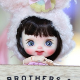 STODOLL BABY DOLL MIRABELLE CUSTOM OOAK ORIGINAL EXCLUSIVE DOLL WITH A YMY OR DDF BODY OB11 AMYDOLL SIZE