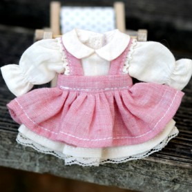 2 PIECES ROMANTIC DRESS OUTFIT FOR OB11 STODOLL AMYDOLL LATI WHITE SP PUKIPUKI OBITSU 11 CM DOLLS
