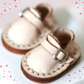 MINI REAL LEATHER DOLL SHOES FOR OB11 STODOLL AMY DOLL LATI WHITE SP PUKIPUKI OBITSU 11 MINI DOLLS