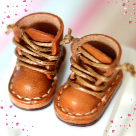 APPLE SONG BOOTS REAL LEATHER DOLL SHOES FOR OB11 STODOLL AMY DOLL LATI WHITE SP PUKIPUKI OBITSU 11 MINI DOLLS