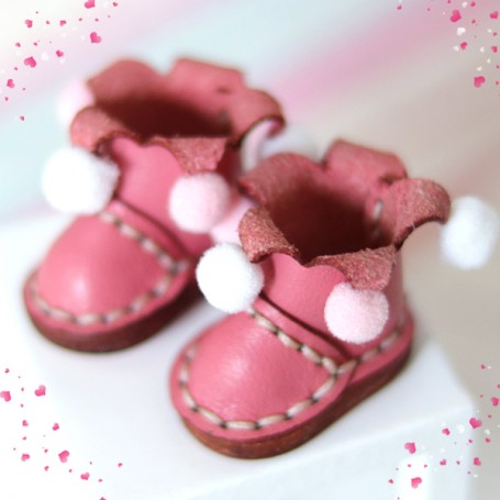 ARLEQUIN MINI REAL LEATHER DOLL SHOES FOR OB11 STODOLL AMY DOLL LATI WHITE SP PUKIPUKI OBITSU 11 MINI DOLLS