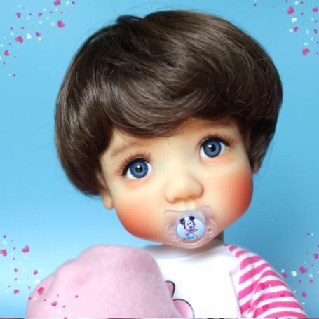 BOBBY BABY DOLL WIG 10-11 BLOND FOR BJD BLYTHE MEADOWDOLLS MAE ADRYN ZWERGNASE