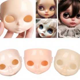 FACE FACEPLATE BLYTHE DOLL NUDE FOR CUSTOM 3 SKIN COLORS  FOR CARVING AND MAKE UP DOLL