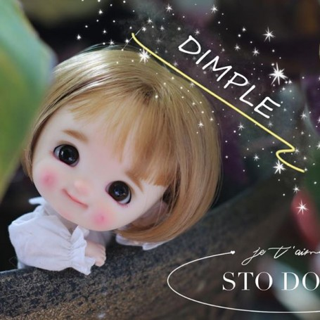 STODOLL BABY DOLL DIMPLES LILOU ORIGINAL EXCLUSIVE DOLL WITH A YMY OR DDF BODY OB11 AMYDOLL SIZE