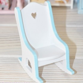 MINIATURE ROCKING CHAIR NURSERY BJD BABY DOLL STODOLL OB11 AMY DOLL LATI WITHE SP DIORAMA DOLLHOUSE