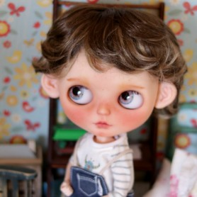 PETIT BOY DUO BROWN DOLL WIG BJD MEADOWDOLLS MAE ADRYN BLYTHE CUSTOM DOLLS