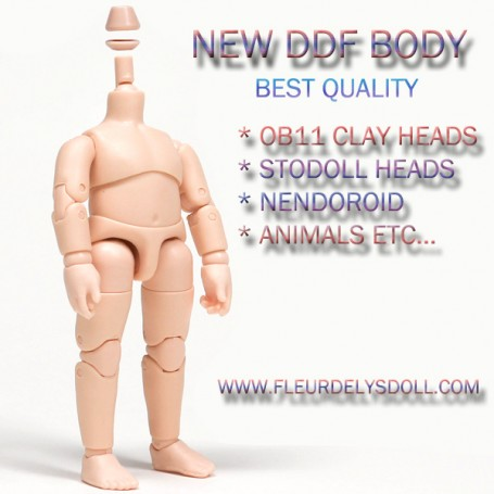 NEW VERSION DDF DISONO BODY FULLY ARTICULATED FOR STODOLL OB11 CLAY DOLLS HEADS SIZE OBITSU 11