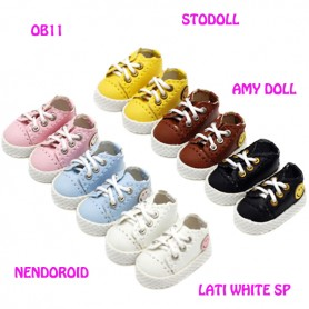 MINI DOLL SMILE SNEAKERS SHOES FOR BJD DOLLS OB11 AMY DOLL NENDOROID STODOLL LATI WHITE SP PUKIPUKI OBITSU 11 DOLLS