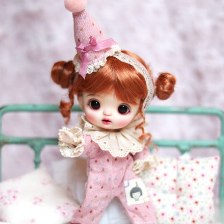 OVERALL AND HAT OUTFIT FOR BJD OB11 NENDOROID STODOLL AMY DOLL LATI WHITE SP PUKIPUKI OBITSU 11 CM DOLLS