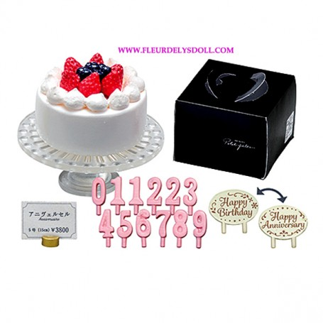 """RE-MENT """"PETIT GATEAU"""" REMENT MINIATURE SET FROM JAPAN FRENCH PASTRY BIRTDAY CAKE CANDLES ..."""