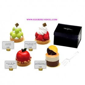 "RE-MENT ""PETIT GATEAU"" FRENCH PASTRY AND CAKES REMENT MINIATURE SET FROM JAPAN"