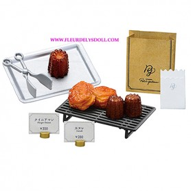 "RE-MENT ""PETIT GATEAU"" FRENCH PASTRY CANNELES & KOUIGN AMANN REMENT MINIATURE SET FROM JAPAN"