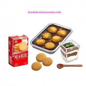 RE-MENT REMENT MINIATURE MORINAGA SMALL CAKES SABLES AND MARIE CAKES BOX BJD DOLLS BLYTHE BARBIE DIORAMA DOLLHOUSE 1/6