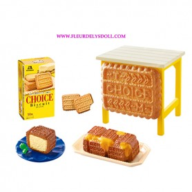 MINIATURE TABLE CAKES AND + KITCHEN RE-MENT REMENT MORINAGA BJD DOLLS BLYTHE BARBIE DIORAMA DOLLHOUSE 1/6