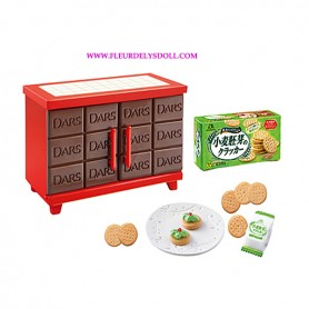 DARS CAKE CUPBOARDS + CRACKERS KITCHEN RE-MENT REMENT MORINAGA BJD DOLLS BLYTHE BARBIE DIORAMA DOLLHOUSE 1/6