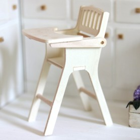 BABY WOODEN HIGH CHAIR MINIATURE BJD STODOLL OB11 AMY DOLLS MEADOWDOLLS DOLL DIORAMA DOLLHOUSE 1/6