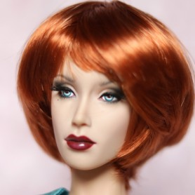 BUBBLES RED 5/6 DOLL WIG MOHAIR FIBER FOR SYBARITE TONNER KINGDOM BJD DOLL MEADOWDOLLS JAMIESHOW...