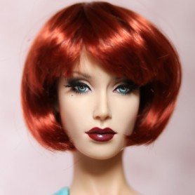 BUBBLES RED FIRE 5/6 DOLL WIG MOHAIR FIBER FOR SYBARITE TONNER KINGDOM BJD DOLL MEADOWDOLLS JAMIESHOW...