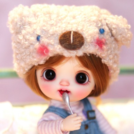 KKNER BABY DOLL MISS TINY TEETH CUSTOM OOAK DOLL SIZE LATI WHITE SP OB11 AMY DOLL STODOLL DDF BODY
