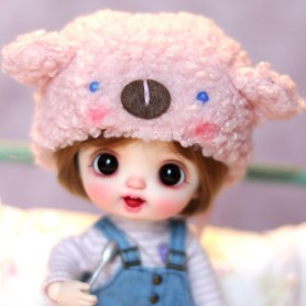 BEAR HAT OUTFIT FOR BJD OB11 STODOLL NENDOROID LATI YELLOW PUKIFEE AMY DOLL MEADOWDOLLS TWINKLE DOLLS