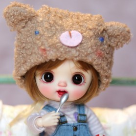 copy of BEAR HAT OUTFIT FOR BJD OB11 STODOLL NENDOROID LATI YELLOW PUKIFEE AMY DOLL MEADOWDOLLS TWINKLE DOLLS