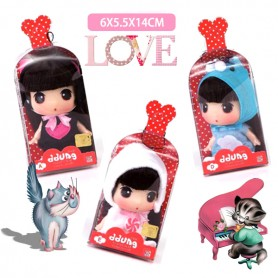 "DDUNG 9 CM (3.5"") LOVELY DOLL GREAT CHRISTMAS GIFT WITH KEYCHAIN INCLUDED"