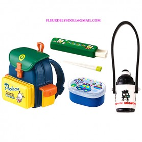 HELLO KITTY MINIATURE SCHOOL BAG BENTO BOX THERMOS RE-MENT REMENT DOLLS STODOLL OB11 BARBIE BLYTHE PULLIP
