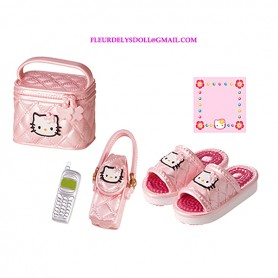 PINK KAWAII HELLO KITTY MINIATURE VANITY CASE SMARTPHONE SHOES RE-MENT REMENT DOLLS STODOLL OB11 BARBIE BLYTHE PULLIP